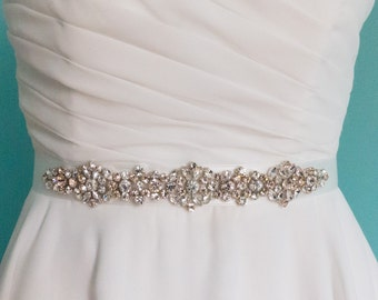 Crystal wedding belt, Swarovski wedding sash, Swarovski wedding belt, bridal sash belt,  jeweled belt, pink Swarovski belt, blush sash