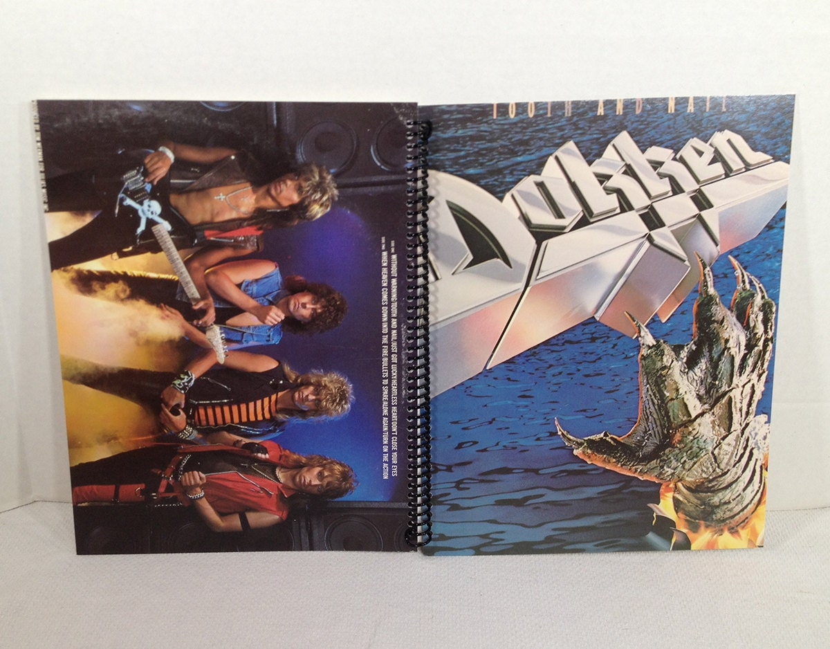 Dokken Tooth And Nail Album Cover Notebook Spiral By