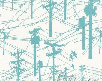 Grafic - Power Poles Aqua - Latifah Saafir - Hoffman Fabrics (P4275-41)