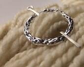 Silver Metal Shawl Pin ~ Burl