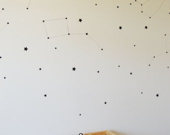 Star wall decals // wall decals // peel and stick // removeable wall stickers // home decor // constellations // stars // wall art / nursery