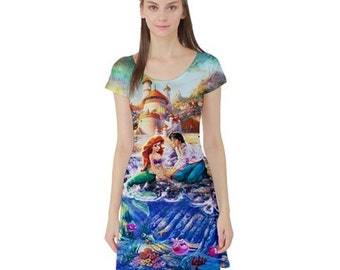 S- 3XL Disney inspired Little Mermaid Ariel dress