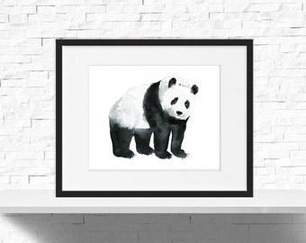 Panda Poster, Panda Print, Panda Nursery Decor, Panda Bear Print, Kids Room Decor, Panda Bear Art,Instant Download, Nursery Printable 10x8