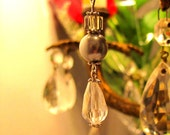 Cristal et perle grise