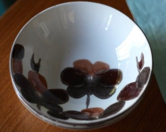 """Vintage  1970's Crown Lynn """"Ligaya"""" hand Painted Ironstone  Made in New Zealand  Cereal Bowl"""