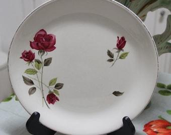 """Vintage 1950's Alfred Meakin """"Rose Supreme"""" Cake  or Dinner Plate"""