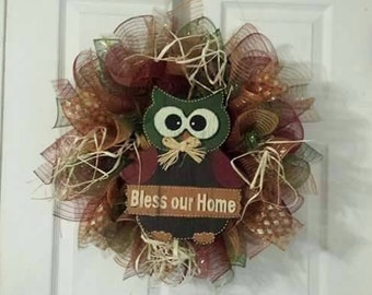 Owl Fall Wreath