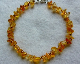 Yellow Citrine Stone Bracelet