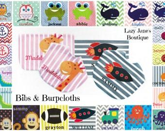 Monogrammed Bibs & Burpcloths