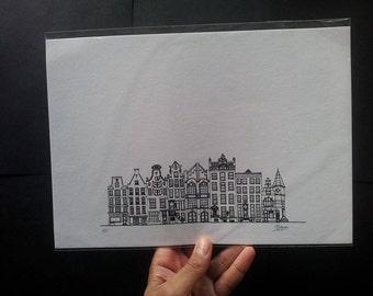 Amsterdam Houses I Large Print