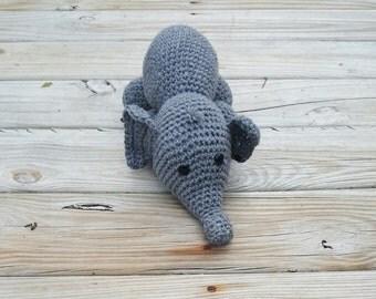Crocheted Amigurumi Elephant
