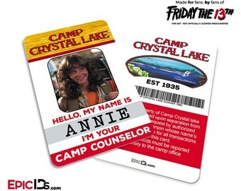 Friday The 13th Inspired 1980's Camp Crystal Lake Camp Counselor ID
