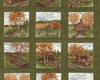 Country Road by Holly Taylor for Moda Fabrics. Northern Pine Panel 6660 14