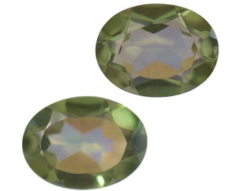 Mystic Enami Green Quartz Oval Cut Set of 2 Loose Gemstones 1A Quality 8x6mm TGW 1.95 cts.