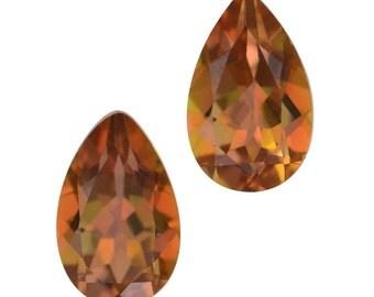 Mystic Stellar Topaz Pear Cut Loose Gemstones Set of 2 1A Quality 8x5mm TGW 1.85 cts.