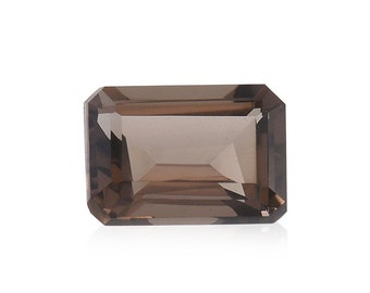 Brazilian Smoky Quartz Loose Gemstone Octagon Cut 1A Quality 7x5mm TGW 0.95 cts.