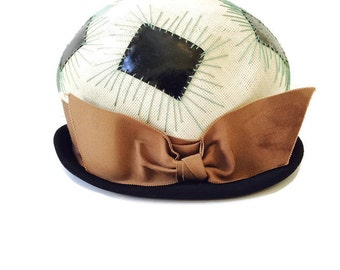 sALe 30% off 1950's Soccer Ball Hat by Christine Original