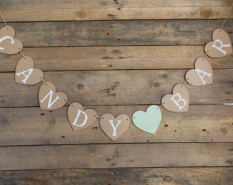 Heart Garland Candybar - wedding / wedding / bridal / wedding decor / Garland