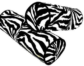 Velvet neckroll bolster – Black white zebra custom bolster pillow – 7x20 pillow cover – Animal print piping bolster cushion  Bed livingroom