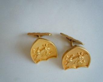 Fabulous 1920s Gold Cuff Links