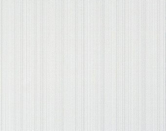 Contemporary Zipper Teeth White Smoke Textural Wallpaper R1892