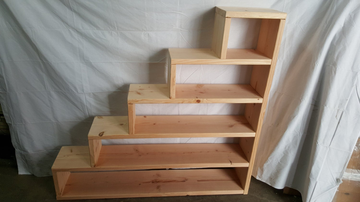 Solid wood custom made stairs for bunk or loft by - Escaleras de literas ...