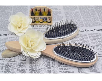 Wooden HEXY hair extensions/wig brush