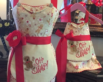 Mommy and Me - H Snap Mommy Apron