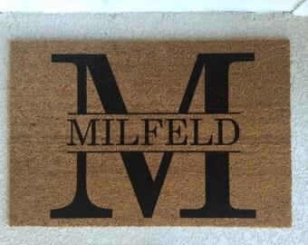 Custom doormat, name doormat, new homeowners