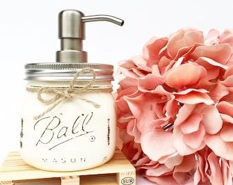 Elite Mason Jar Soap Dispenser, Farmhouse kitchen, Country, Mason Jar, Hostess, Kitchen, Bathroom, Gift, Housewarming, Rustic, Christmas