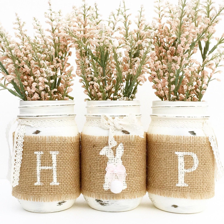 Hop mason jar set spring jars easter bunny country