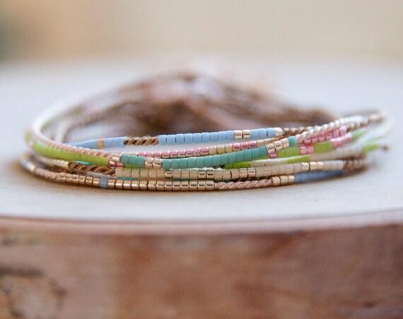 Dainty morse code bracelets