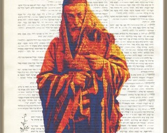 TO THE SYNAGOGUE-hebrew dictionary print
