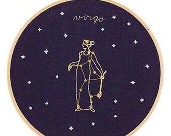 Vergine (23 agosto - 22 settembre) ricamo dello zodiaco