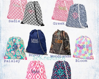Monogrammed Gym Bags, Cinch Sack, Swim Bags, Totes, School Bags, Backpacks,