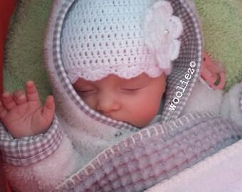 Crochet hat newborn - baby hat - newborn hat - hat - beanie - baby - crocheted hat - crocheted babyhat - babyhats