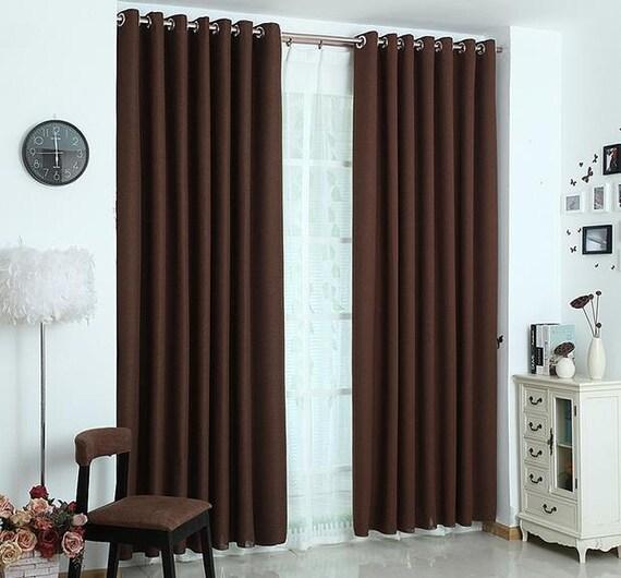Dark Brown Blackout Curtain / Insulation Curtain By Tailor2U