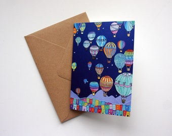 Hot Air Balloons Over Clifton, Bristol A6 Greeting Card