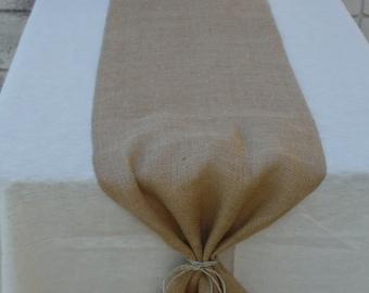 SALE -  Burlap Table Runner - Rustic, Wedding