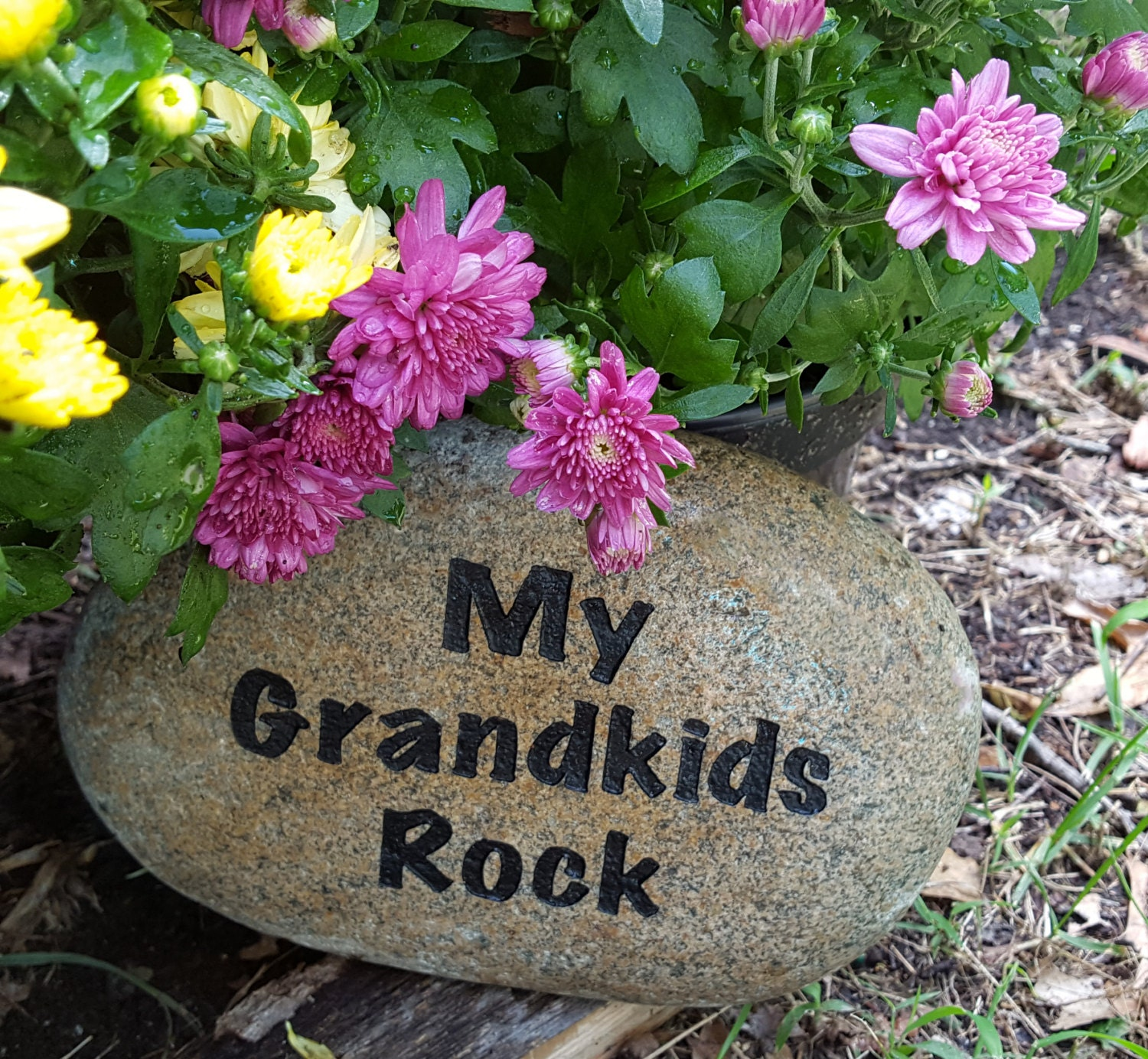 Landscaping Rocks Names : Mother s day my grandkids rock name rocks for garden