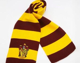 Gryffindor Scarf.Harry Potter Scarf.Hogwarts Scarf.Hogwarts House Scarf.Gryffindor House Scarf.