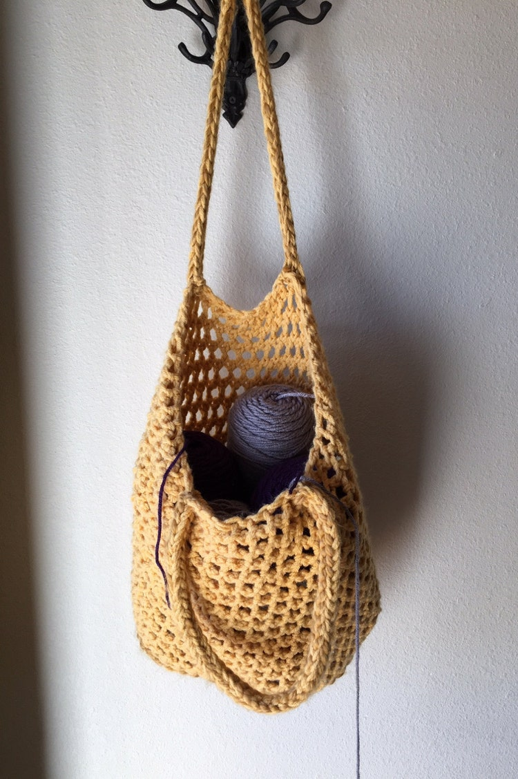 Tote Bag a loom knit pattern by DaynaScolesDesigns on Etsy