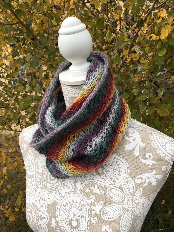 Kiowa Creek Cowl - a loom knit pattern