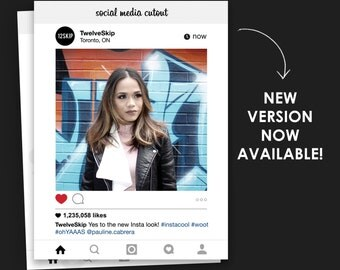 New Instagram Frame, Social Media Board, Social Media Cutout, Wedding Photo Booth Prop, Wedding Sign, Social Media