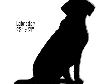 Labrador Retriever Black Laser Cut Out Sign 21x23 RG7730B