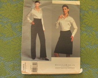 SHIRT, PANTS & SKIRT close fitting .. Sz 18-20-22  ..Uncut  V2813 Vogue  American Designer  Donna Karan Sewing Pattern