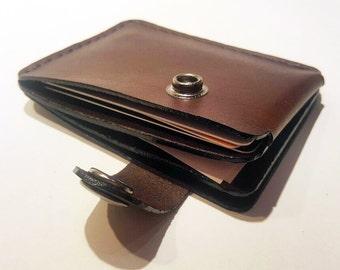 Brown leather wallet, credit card wallet, mini wallet, handmade wallet, leather wallet, business card holder
