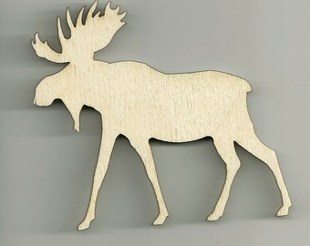 Craft, Moose,  Wild Life, Cutouts, Wood, Unfinished, DIY, You Decorate, Scrap Book Items, Decorations