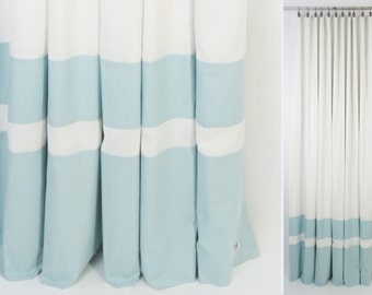 Color Block Curtains Etsy