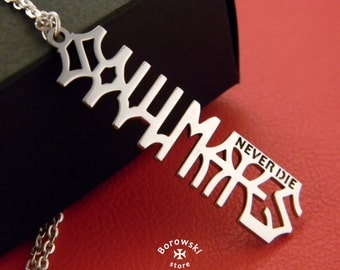 FREE SHIPPING - Soulmates never die pendant - Stainless steel
